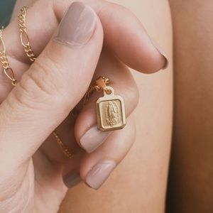 Mother Mary 18k Gold Filled Minimalist Necklace